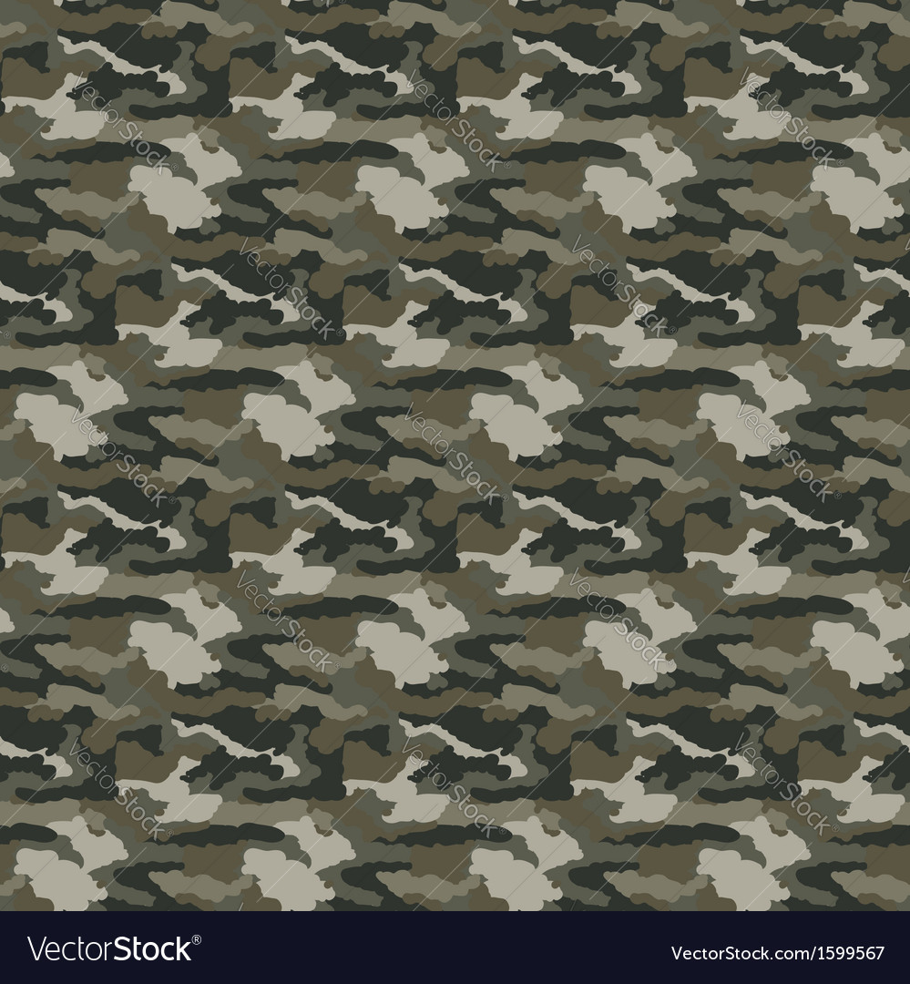 Military camouflage seamless pattern vector | Price: 1 Credit (USD $1)