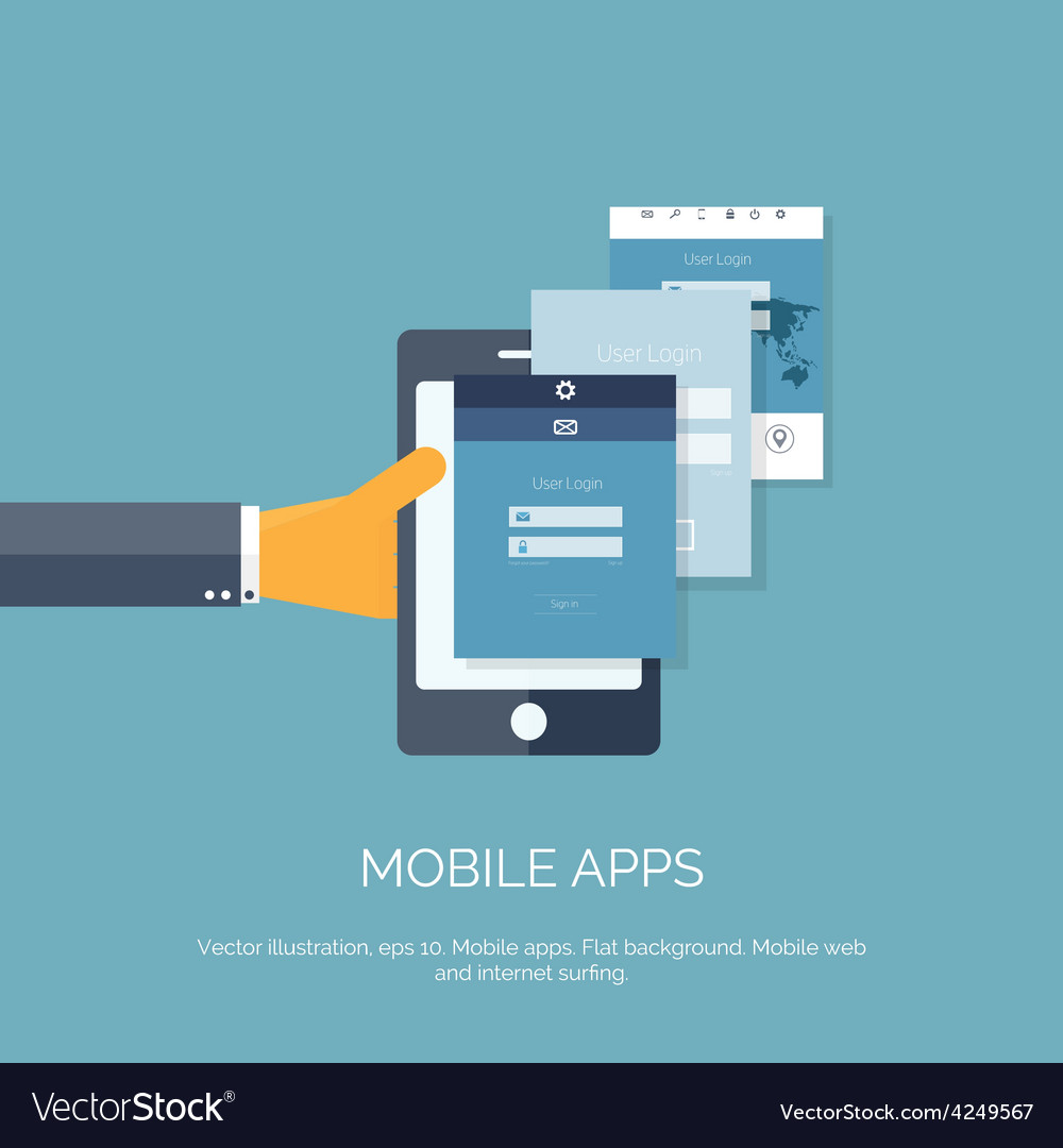 Mobile apps programming and vector | Price: 1 Credit (USD $1)