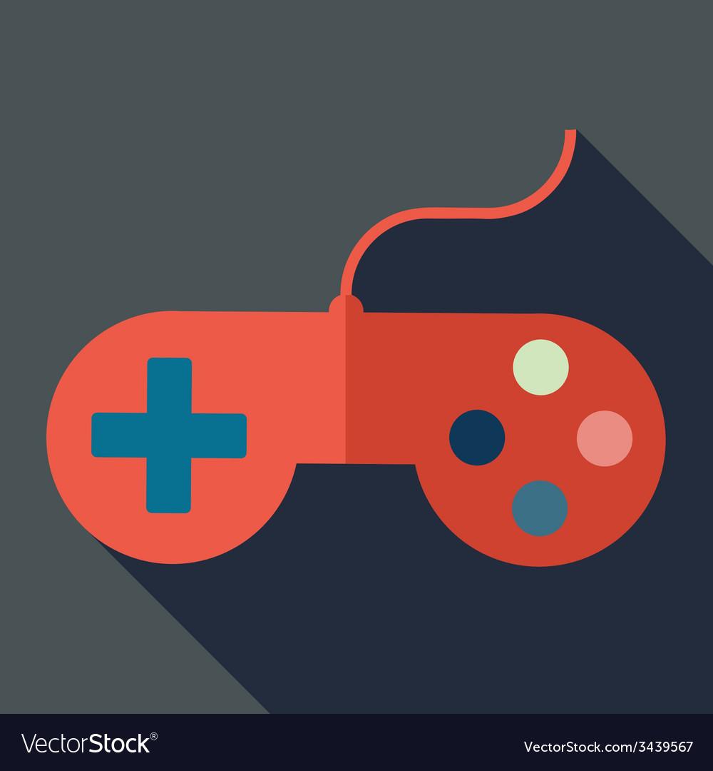 Modern flat design concept icon gamepad computer vector | Price: 1 Credit (USD $1)