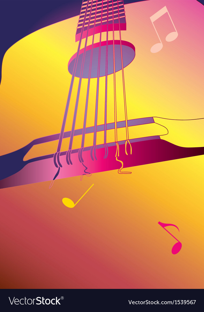 Music background or poster with guitar vector | Price: 1 Credit (USD $1)