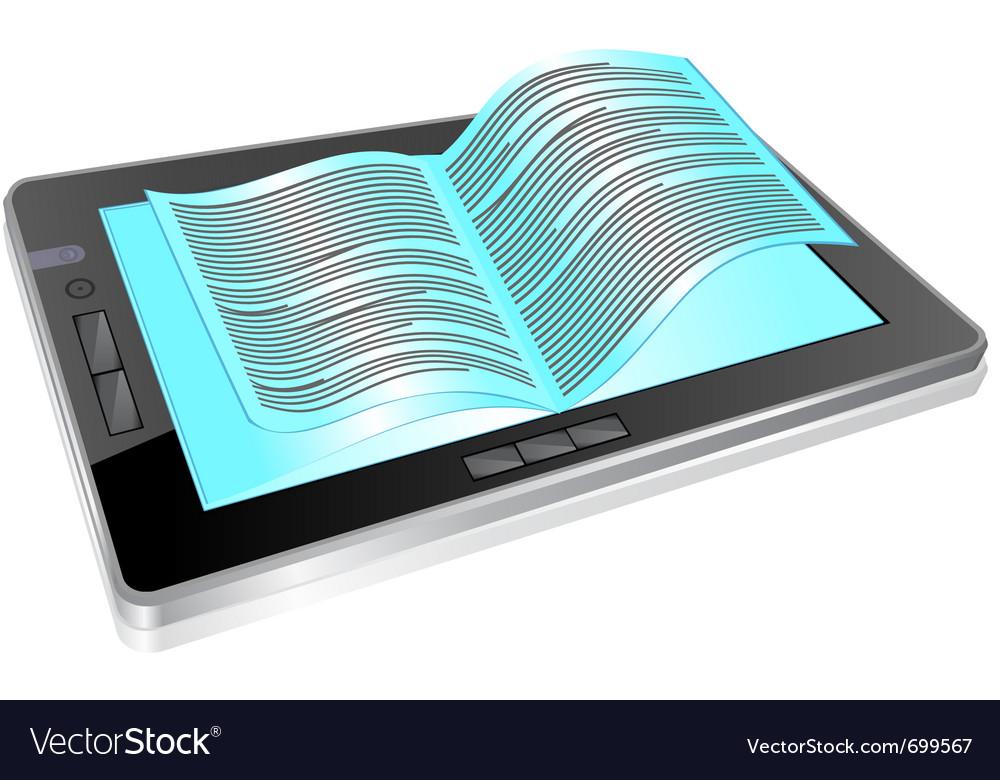 Tablet book vector | Price: 1 Credit (USD $1)
