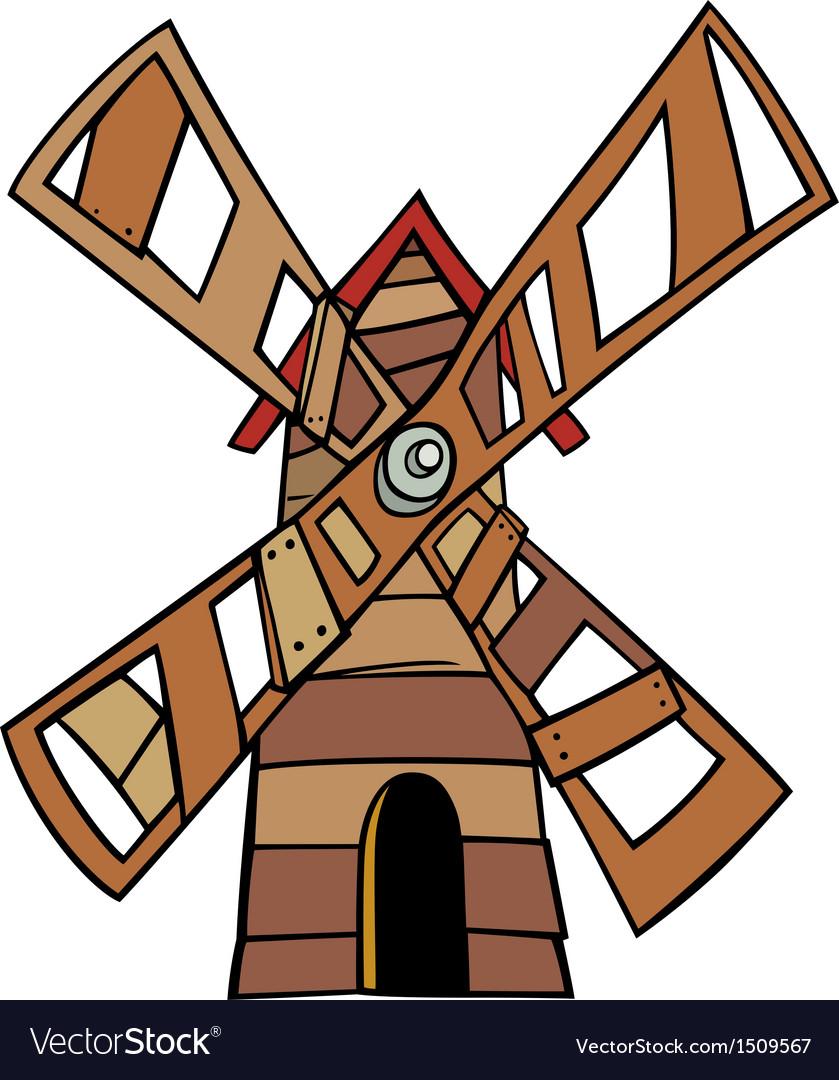 Windmill clip art cartoon vector   Price: 1 Credit (USD $1)