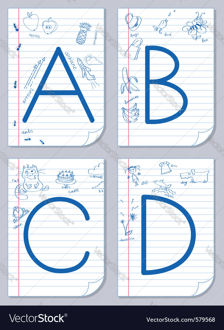 Alphabet sketch vector | Price: 1 Credit (USD $1)