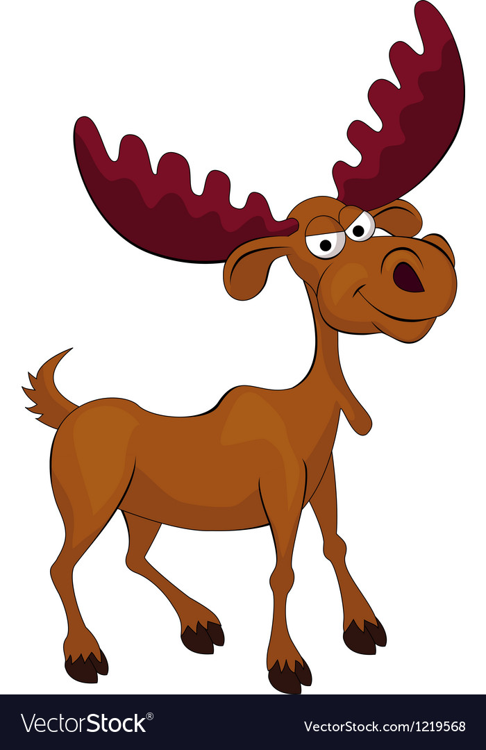 Angry deer cartoon vector | Price: 1 Credit (USD $1)