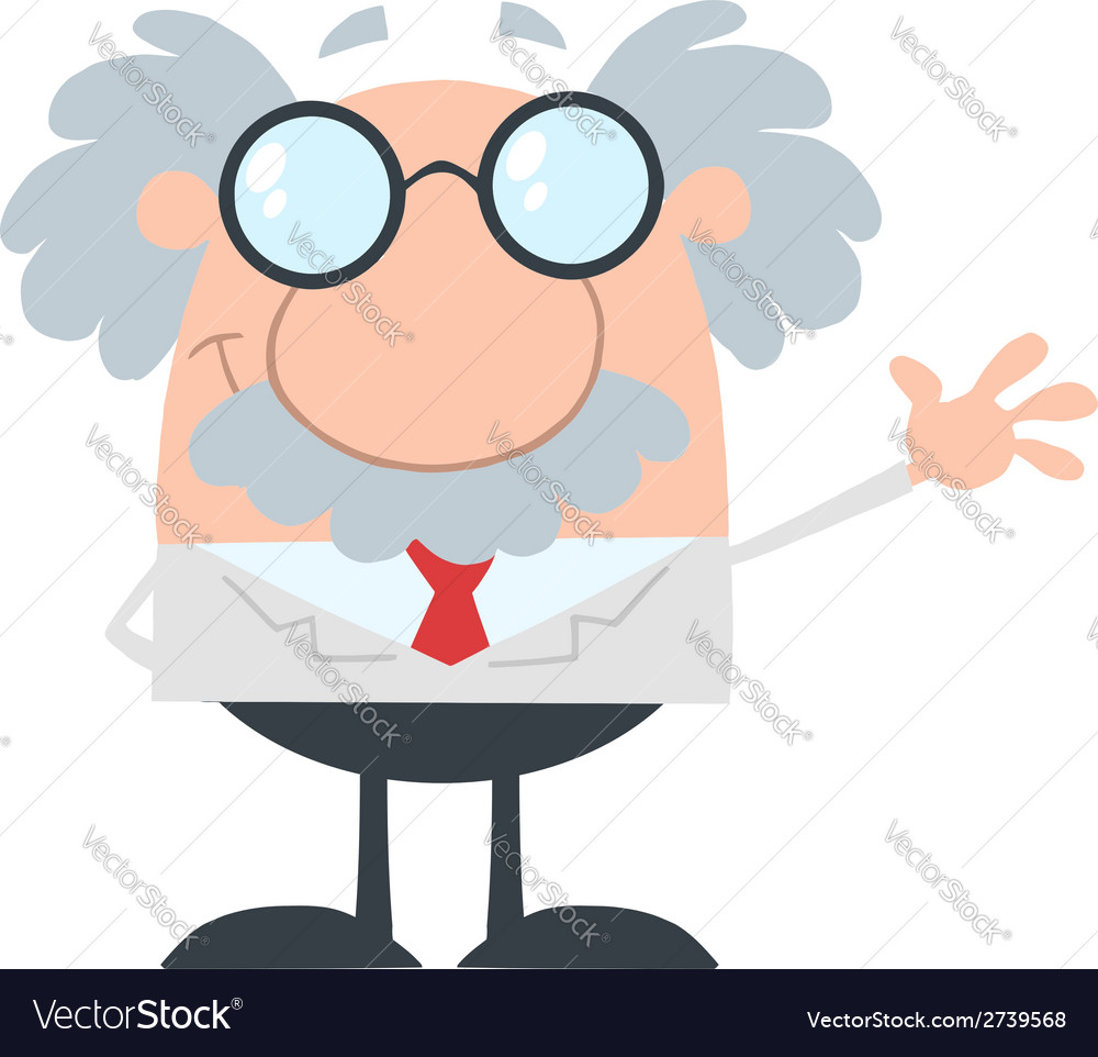 Cartoon scientist vector | Price: 1 Credit (USD $1)