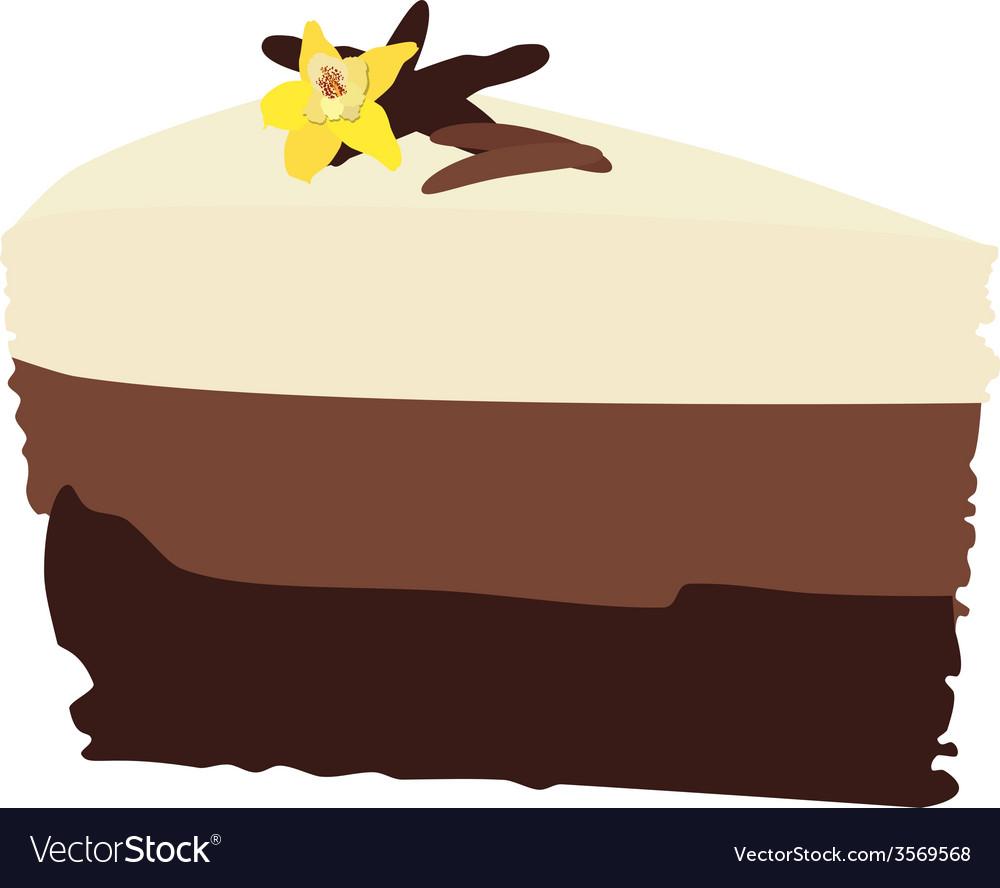 Chocolate cake with vanilla vector | Price: 1 Credit (USD $1)