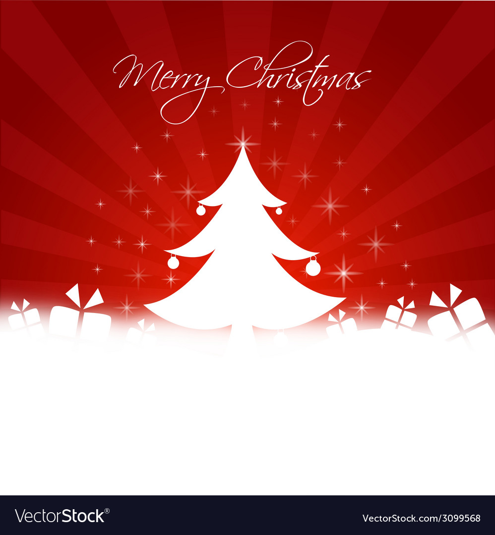 Chrismas tree with gifts box and copy-space vector | Price: 1 Credit (USD $1)