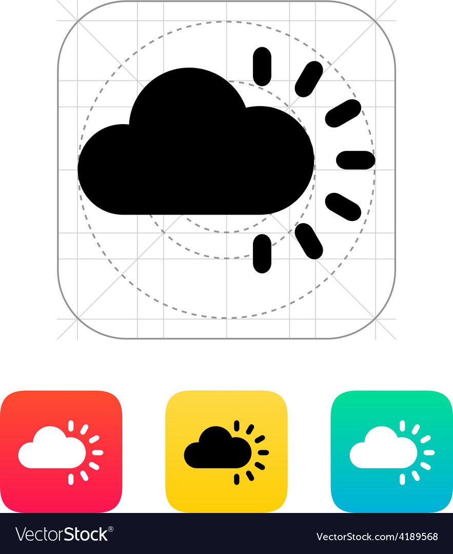 Cloudy weather icon vector | Price: 1 Credit (USD $1)