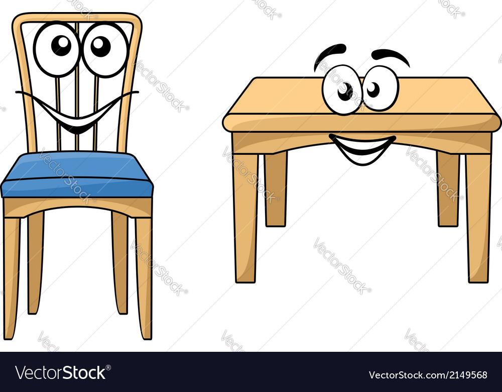 Cute cartoon wooden furniture vector | Price: 1 Credit (USD $1)
