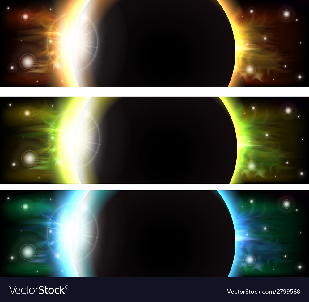 Eclipse banners vector | Price: 1 Credit (USD $1)