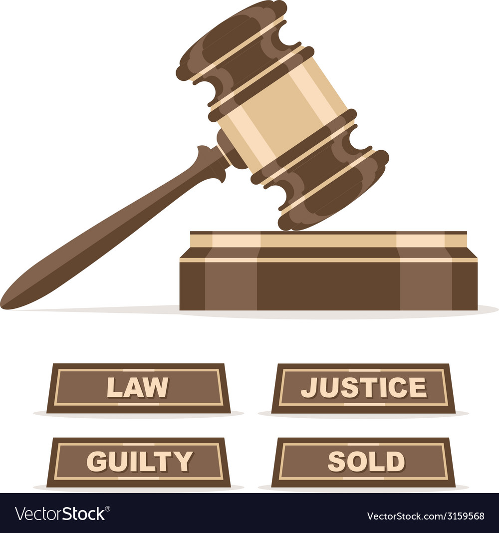 Judges gavel or auction hammer vector | Price: 1 Credit (USD $1)