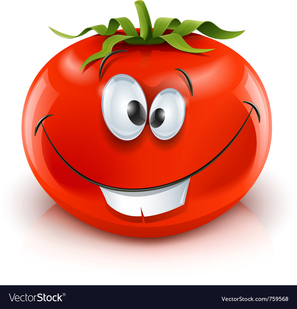 Smiling red ripe tomato vector | Price: 3 Credit (USD $3)