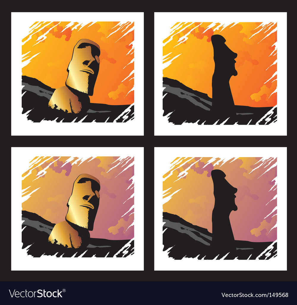 Stone idols vector | Price: 1 Credit (USD $1)