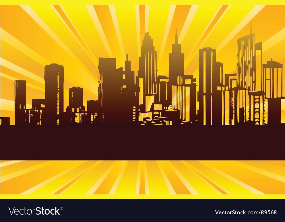 Sunrise city vector | Price: 1 Credit (USD $1)
