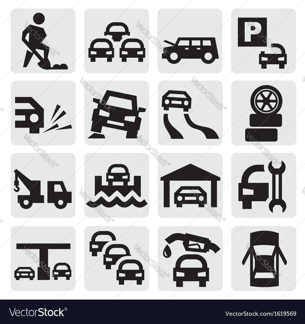 Auto icons vector | Price: 1 Credit (USD $1)