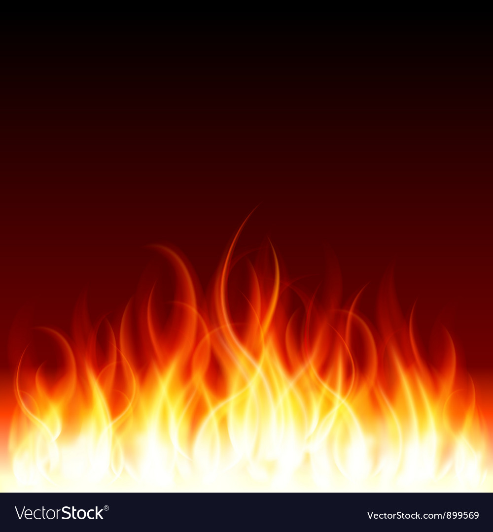 Burning flames background vector