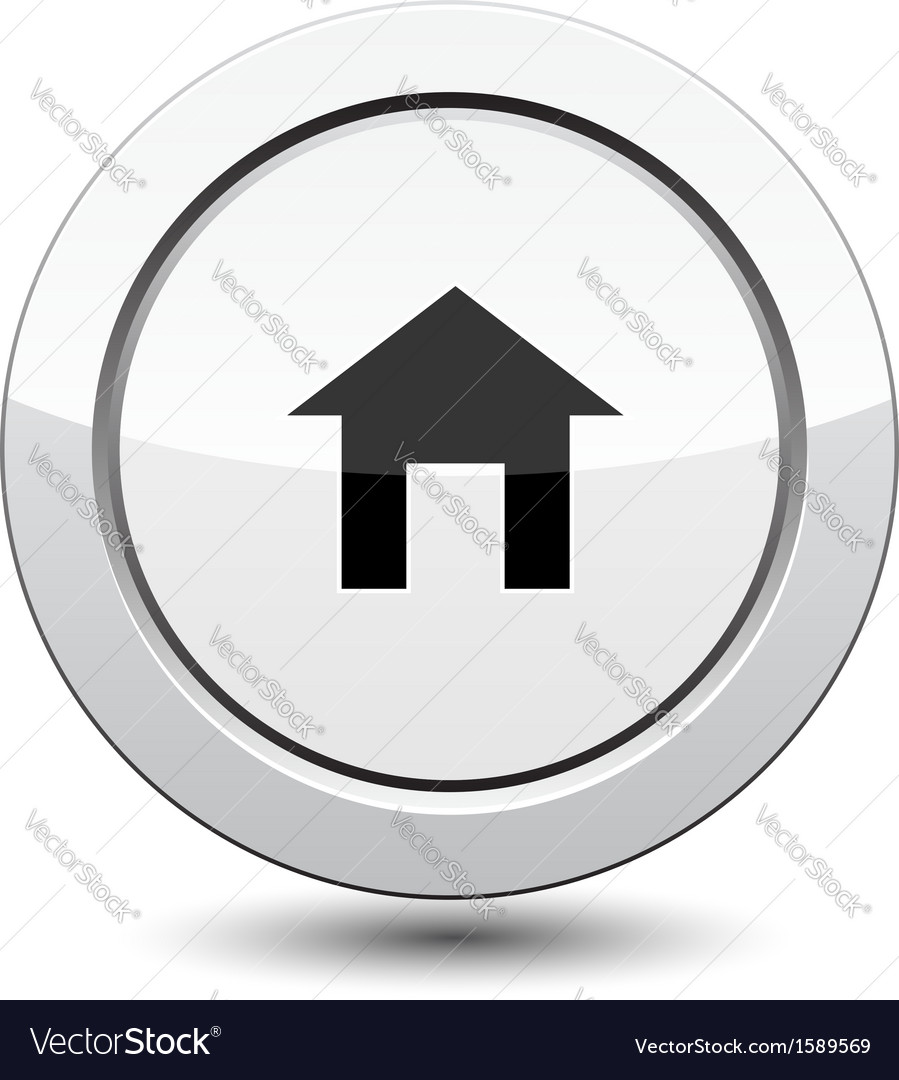Button with house icon vector | Price: 1 Credit (USD $1)