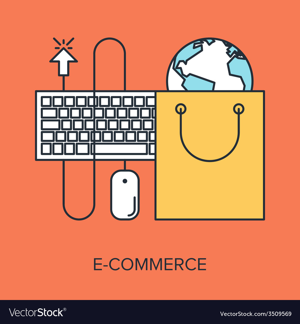 Electronic commerce vector | Price: 1 Credit (USD $1)