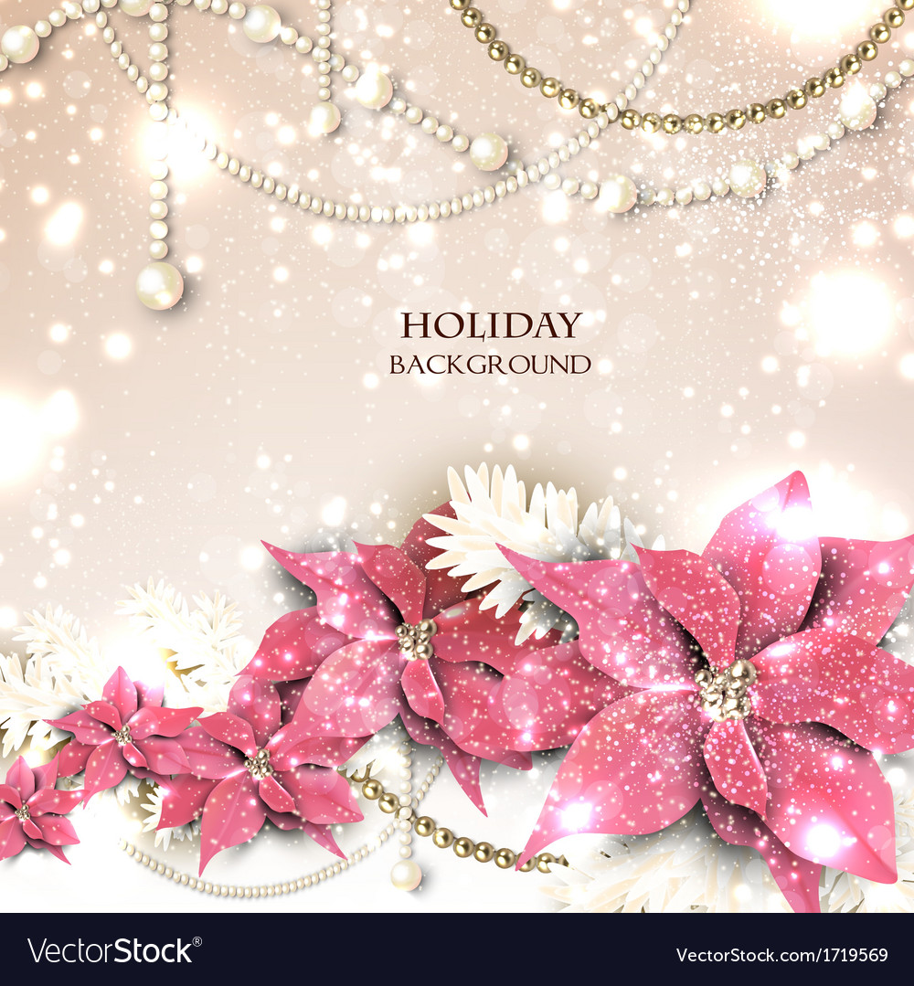 Elegant background with christmas garland vector | Price: 1 Credit (USD $1)