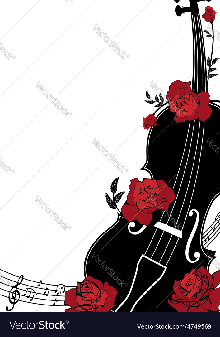 Floral musical composition vector
