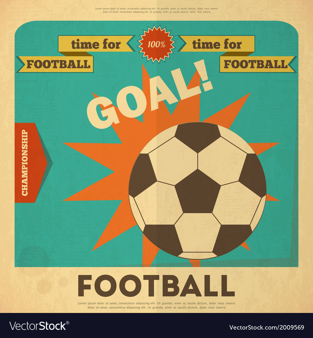 Football placard vector | Price: 1 Credit (USD $1)