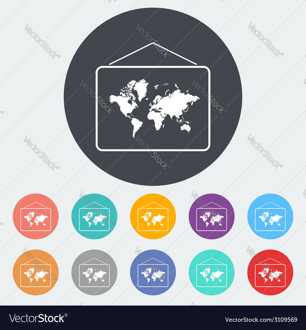 Map flat icon vector   Price: 1 Credit (USD $1)