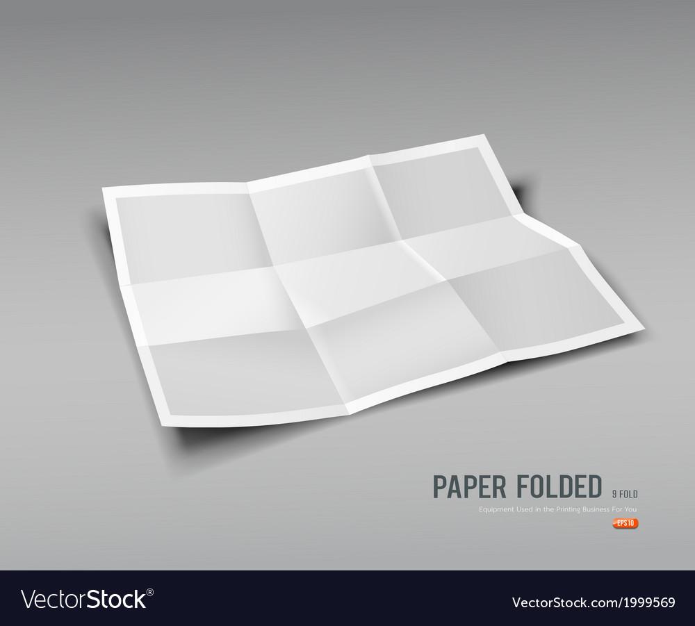 Paper folded nine fold for business design vector | Price: 1 Credit (USD $1)