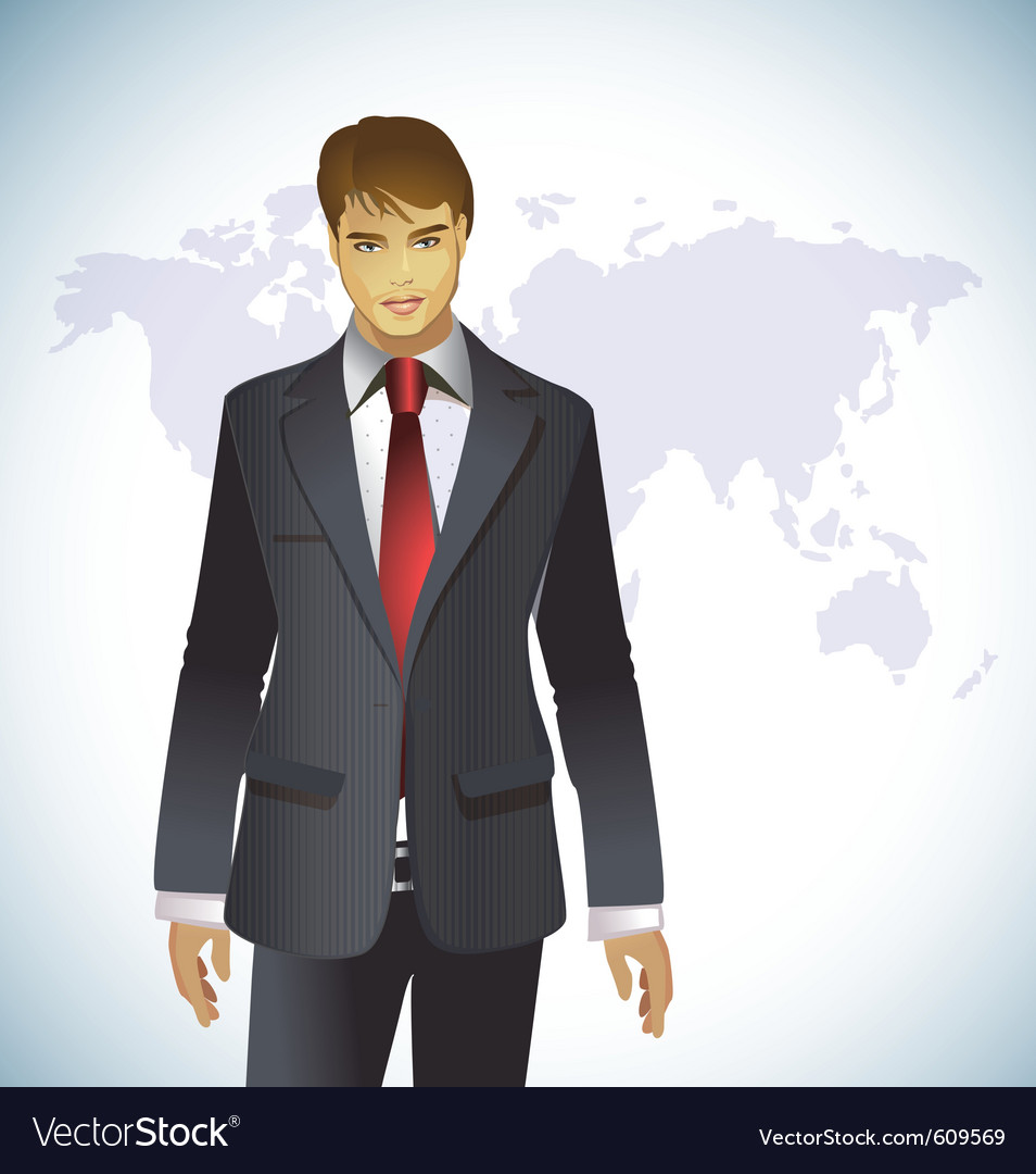 Portrait of a businessman vector | Price: 3 Credit (USD $3)