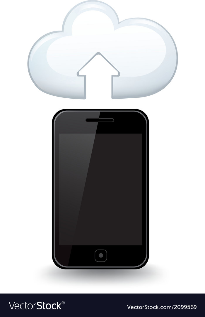 Smart phone cloud vector | Price: 1 Credit (USD $1)
