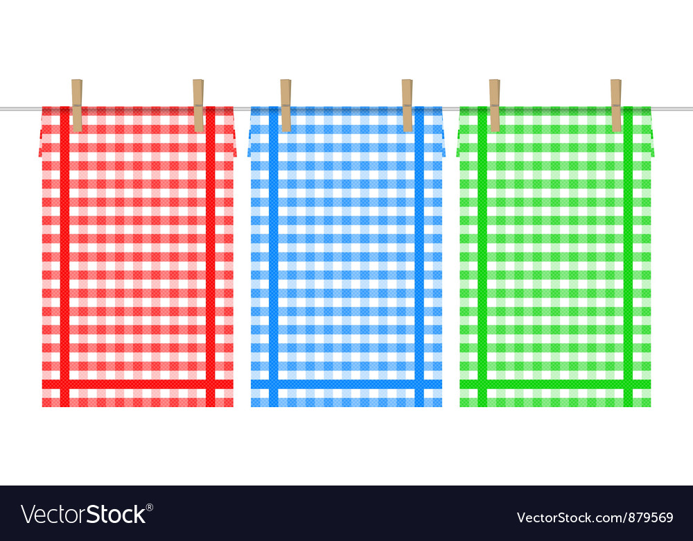 Towels on the clothesline vector | Price: 1 Credit (USD $1)