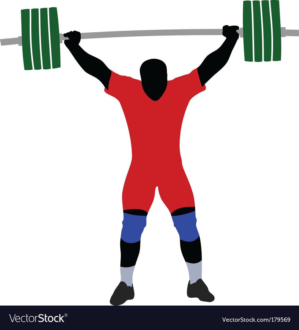Weightlifter vector | Price: 1 Credit (USD $1)