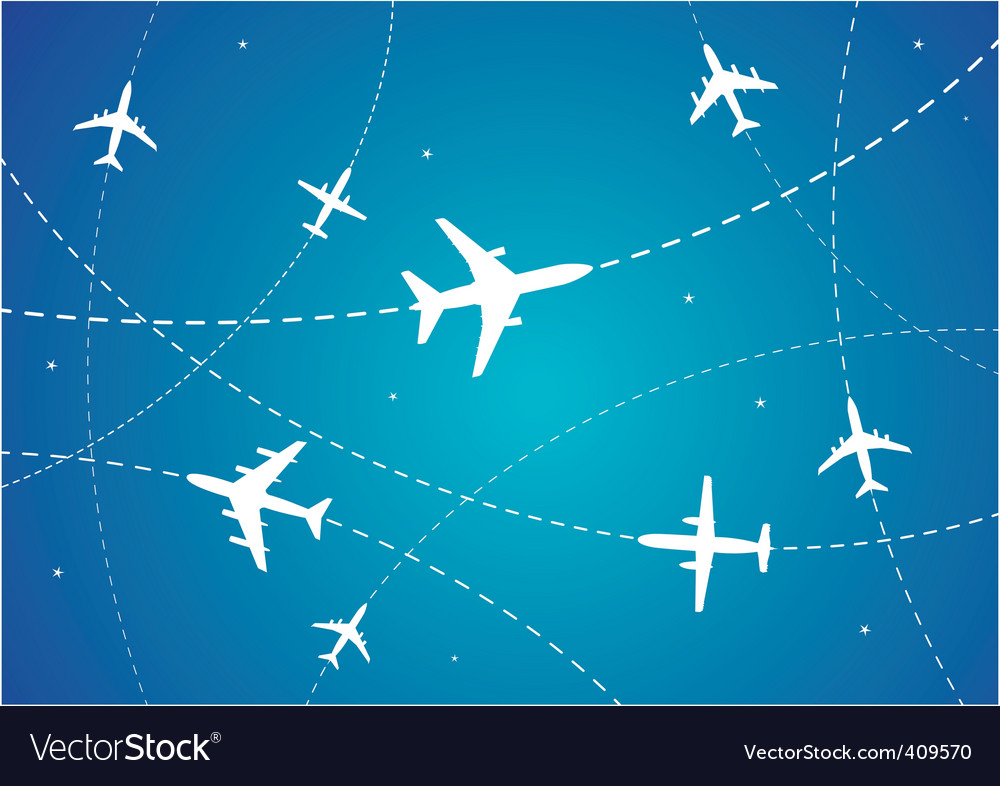 Airplane routes vector | Price: 1 Credit (USD $1)