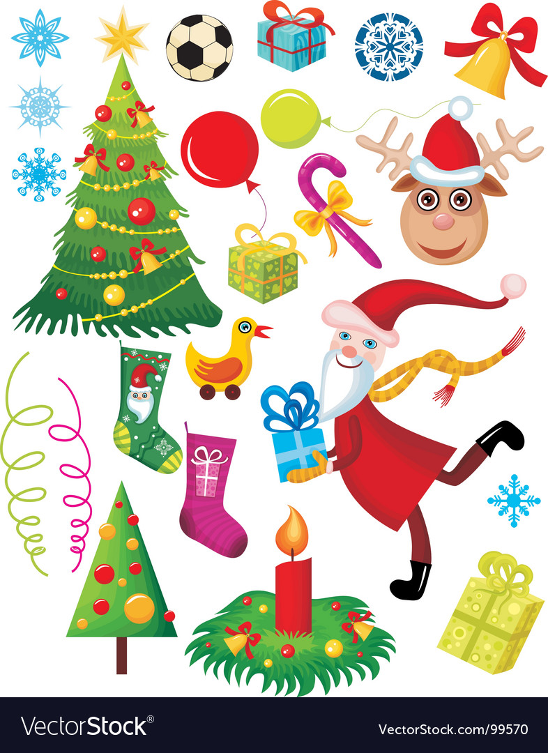 Christmas set vector | Price: 3 Credit (USD $3)