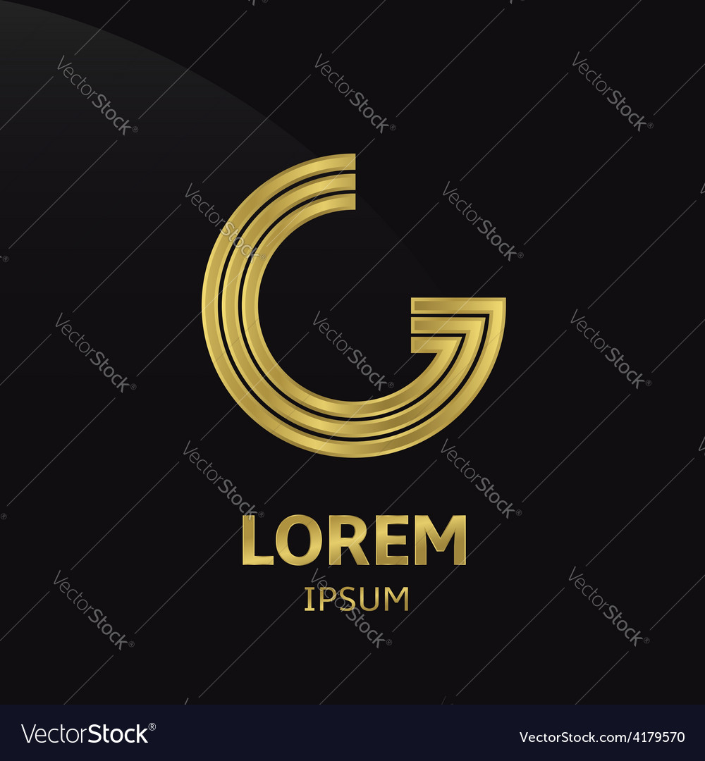 Golden letter symbol vector | Price: 1 Credit (USD $1)