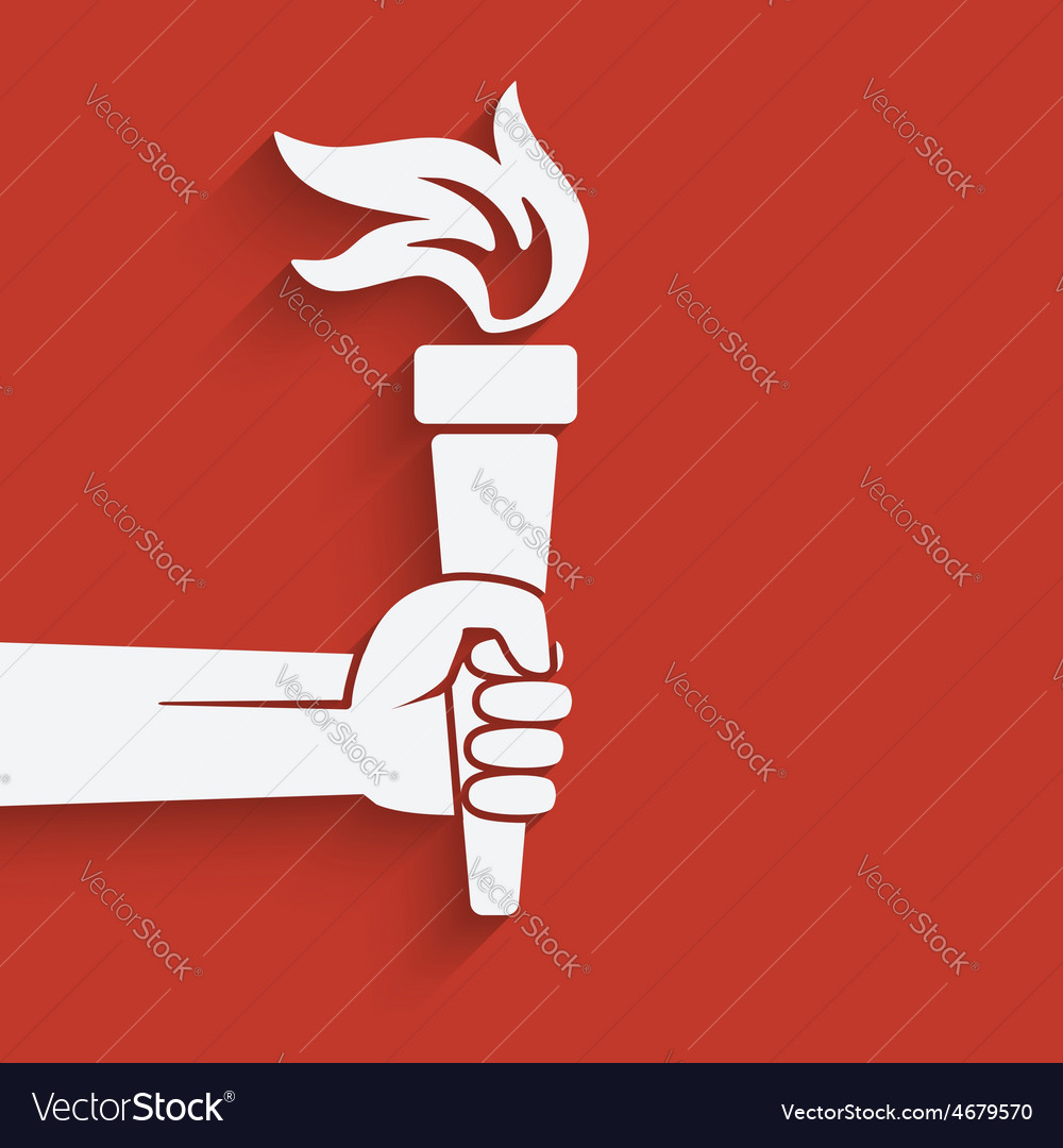 Hand with torch symbol vector | Price: 1 Credit (USD $1)