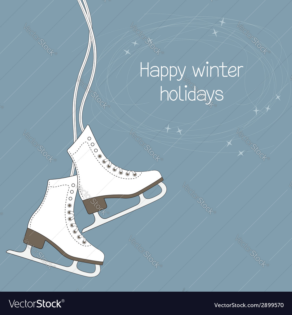 Ice skates vector | Price: 1 Credit (USD $1)