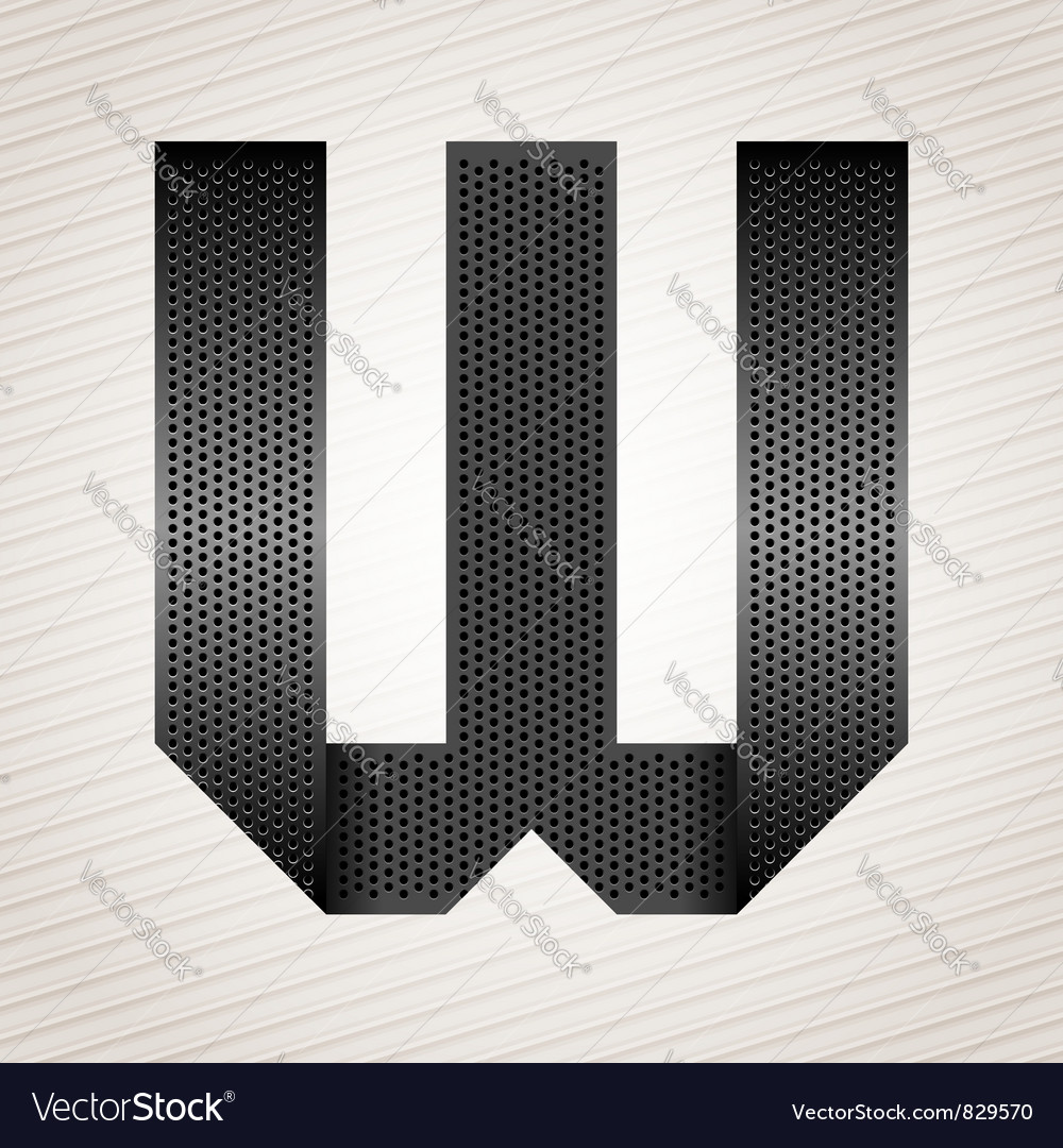 Letter metal ribbon - w vector | Price: 1 Credit (USD $1)