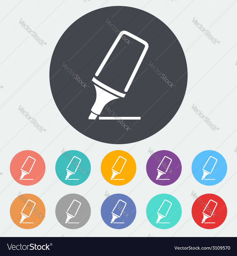 Marker vector | Price: 1 Credit (USD $1)
