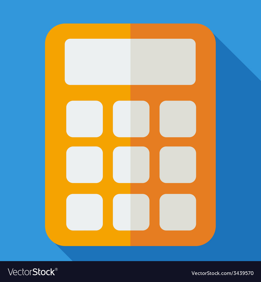 Modern flat design concept icon calculator vector | Price: 1 Credit (USD $1)