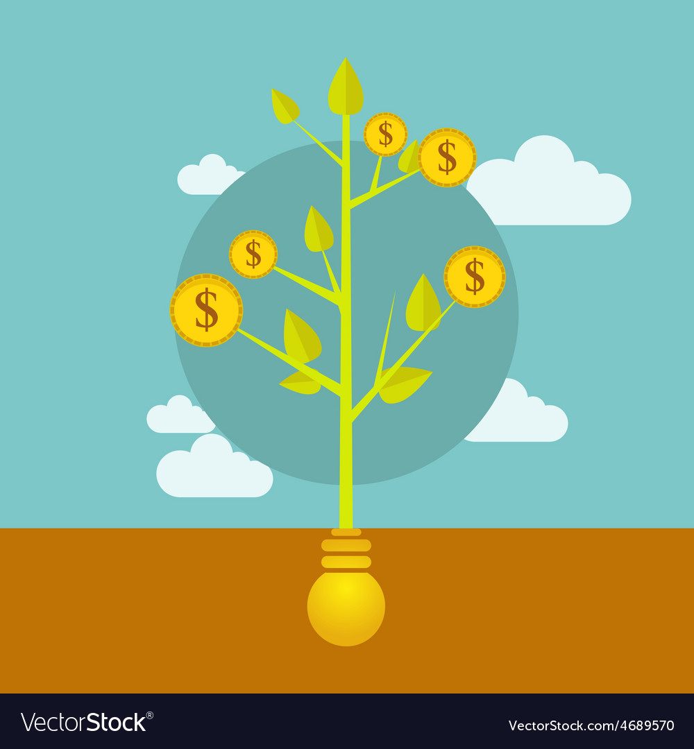 Money growing on tree business vector | Price: 1 Credit (USD $1)