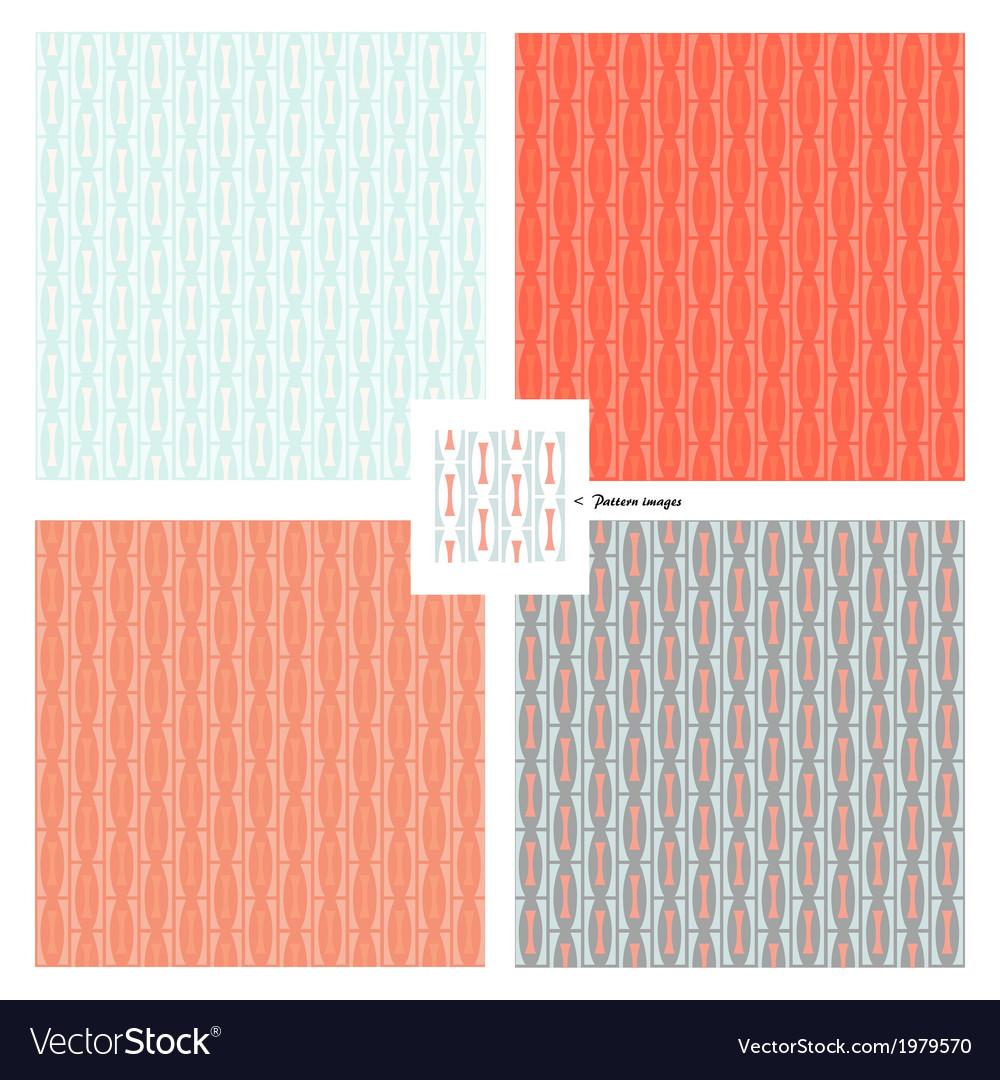 Pattern wallpaper retro vector | Price: 1 Credit (USD $1)