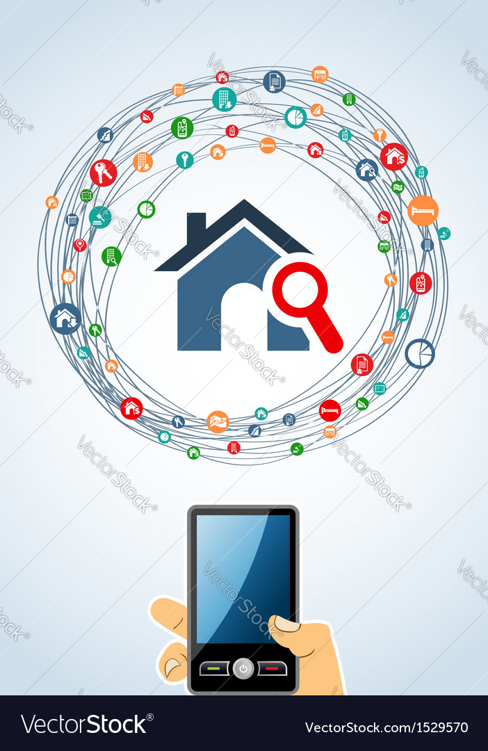 Real estate icons generic smart phone vector | Price: 1 Credit (USD $1)