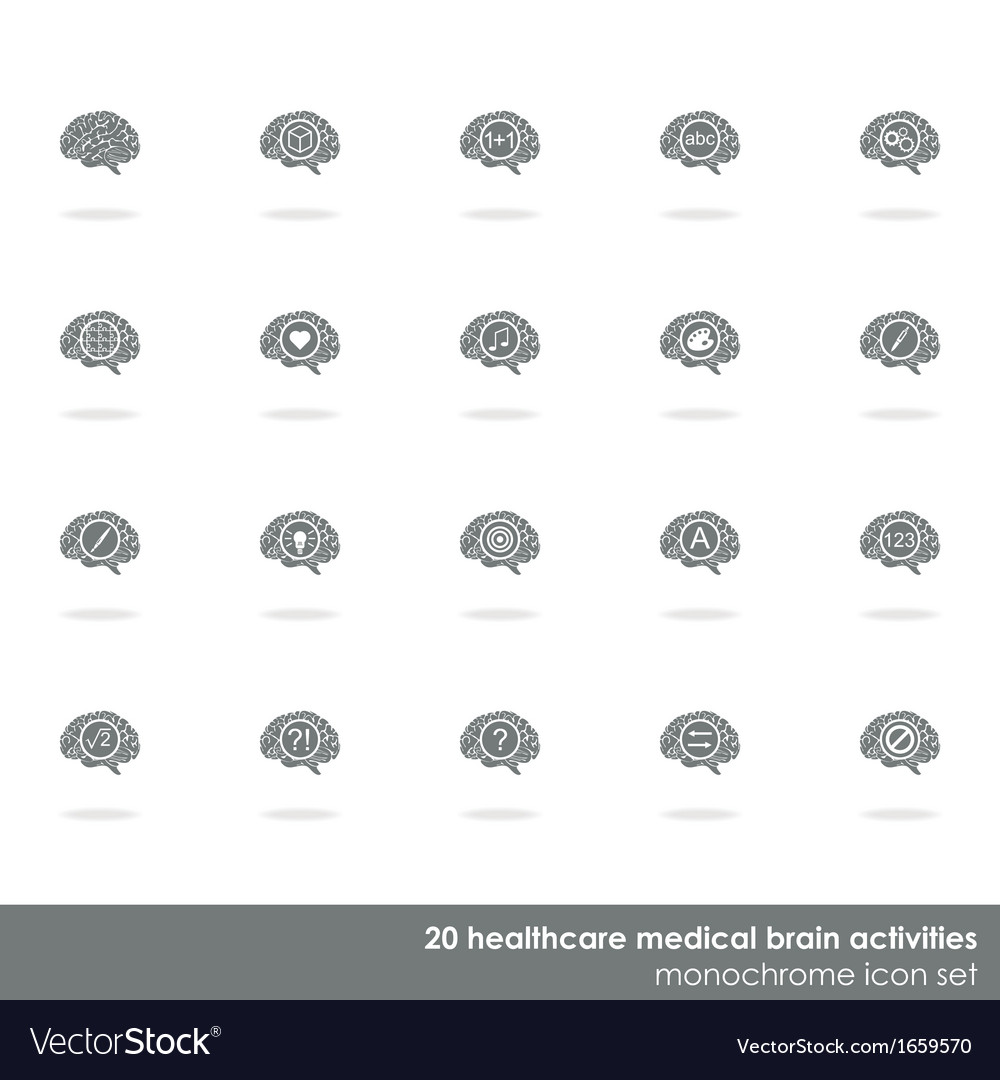 Set of brain icons vector | Price: 1 Credit (USD $1)
