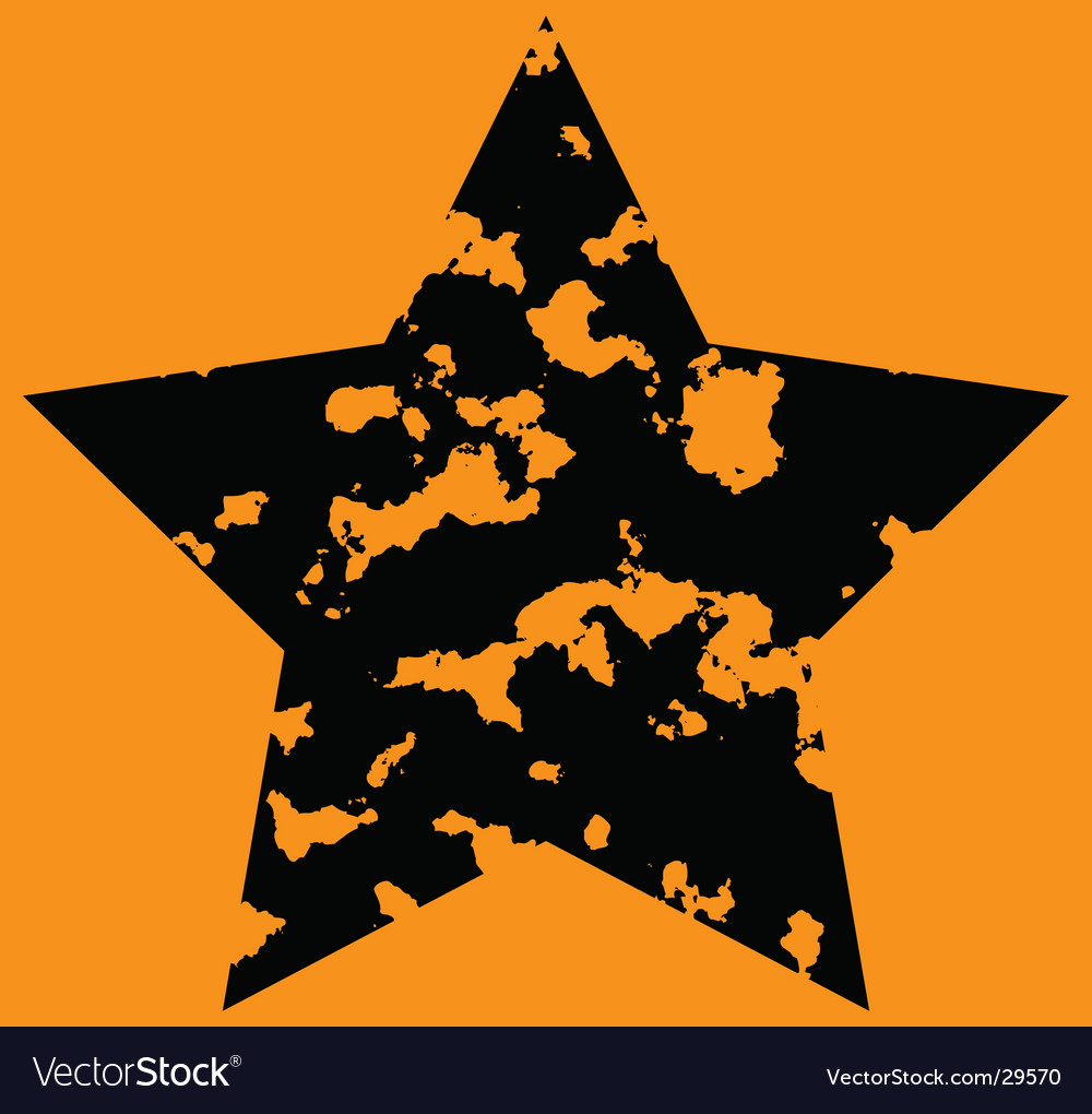 Star on orange background vector | Price: 1 Credit (USD $1)