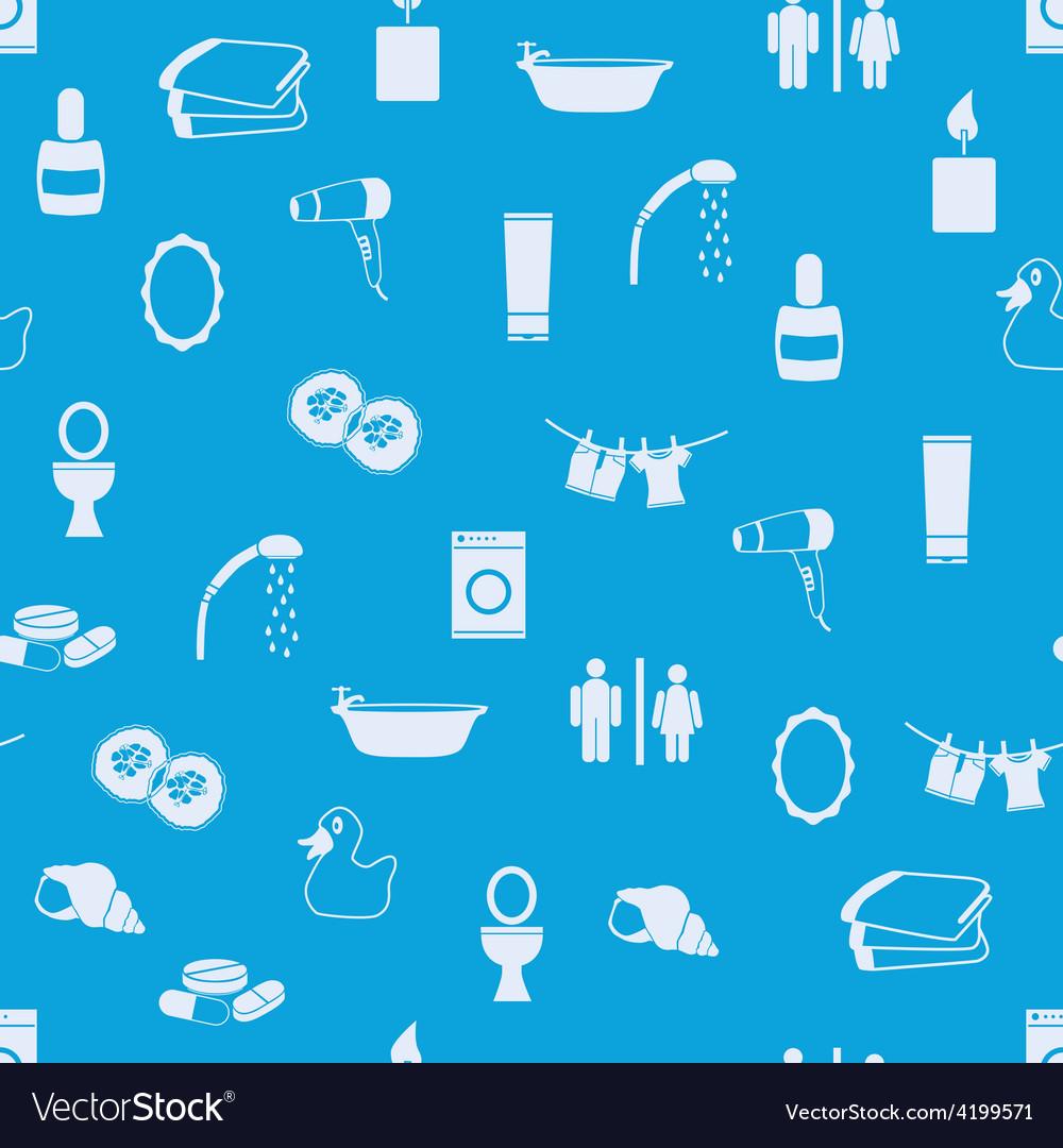 Bathroom seamless pattern vector | Price: 1 Credit (USD $1)