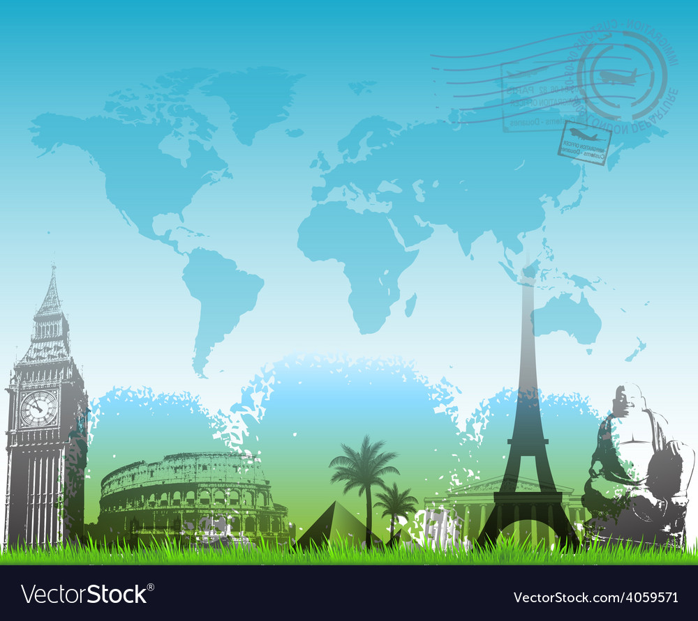 Beautiful travel europe background vector | Price: 3 Credit (USD $3)