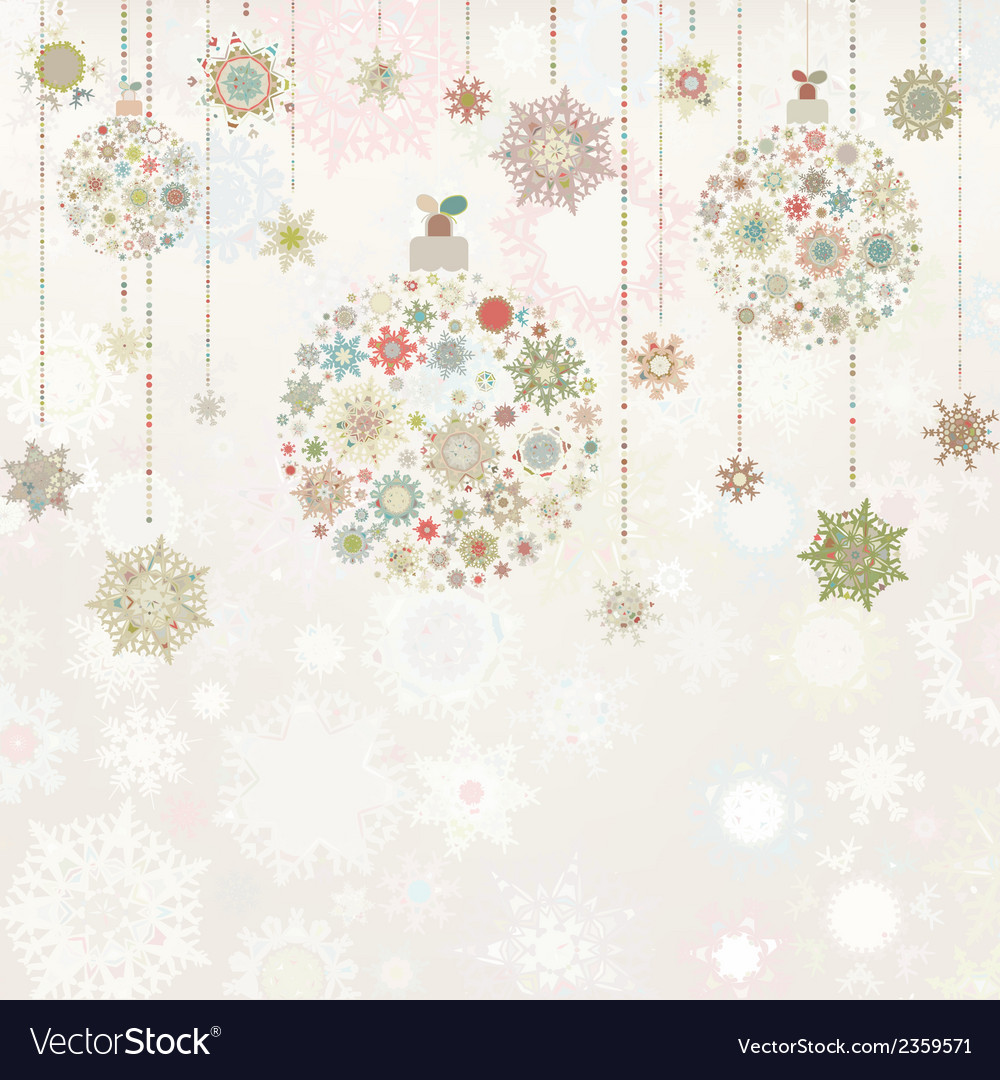 Beige background with christmas balls eps 8 vector | Price: 1 Credit (USD $1)