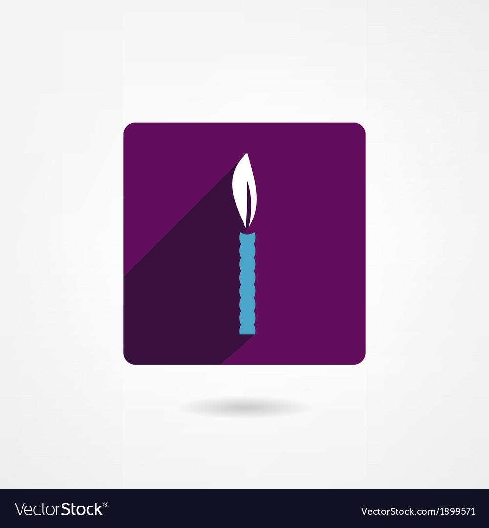 Candle icon vector | Price: 1 Credit (USD $1)