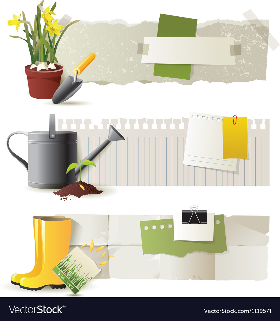 Gardening banners vector | Price: 3 Credit (USD $3)