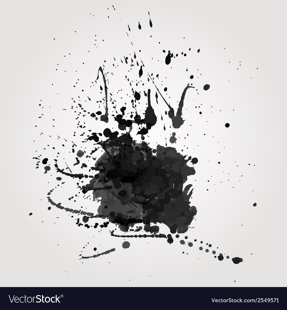Grunge background with black splash vector | Price: 1 Credit (USD $1)